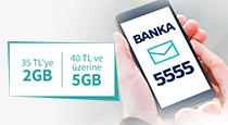 35 TL ve üzeri yükleyeme yapan Türk Telekom müşterilerine, 2 GB veya 5 GB internet paketi hediye!