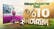 Dünya Kupası'na özel seçili Vestel UHD TV'lerde %10 indirim fırsatı!
