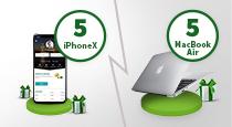 Garanti Cep/ İnternet'e giriş yapın, MacBook Air ve İPhone X kazanma fırsatı yakalayın!