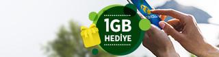 35 TL ve üzeri paket yükleyenlere 1 ay geçerli 1 GB İnternet HEDİYE!