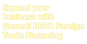 Expand your business with Garanti BBVA Foreign Trade Financing