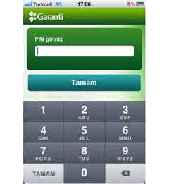 Garanti Cep Şifrematik iPhone Uygulaması