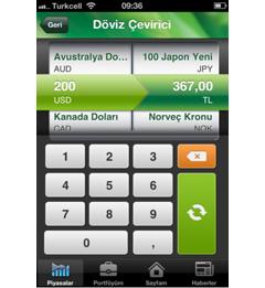 e-Trader iPhone Uygulaması